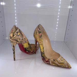 Christian Louboutin marbled So Kate 37.5